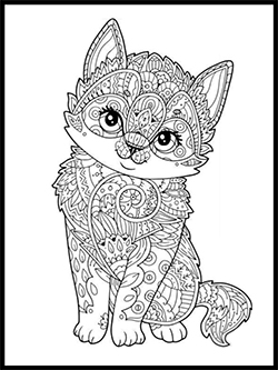 Cat Coloring Template thumbnail