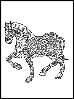 Horse Coloring Template thumbnail