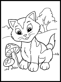 Kitten Coloring Template thumbnail