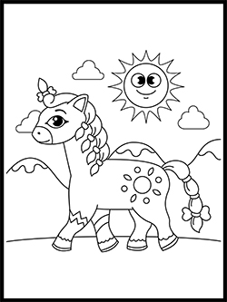 Pony Coloring Template thumbnail